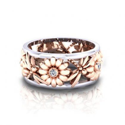 SJ-CY073Luxury Women Geometric Ring..