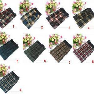 FREE SHIP Warm Plaid Leggings W/ Li..