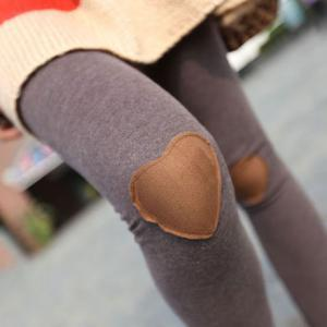 Fashion Gray Knee Love Patch &Leggi..