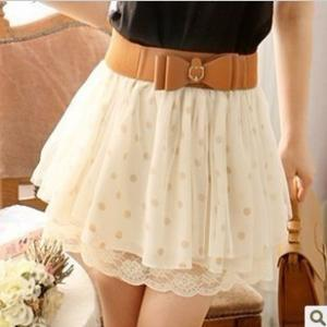Nice Lace Wave Point Skirt With The..