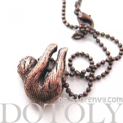 Realistic Baby Sloth Animal Charm N..