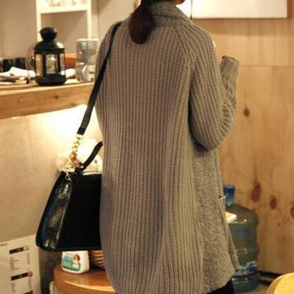 Graceful Open-Front Long Cardigan