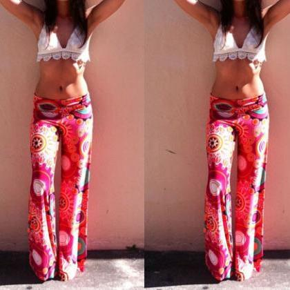 Ms. Summer New Printed Trousers Str..