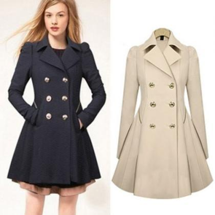 Womens Ladies Lapel Winter Warm Lon..