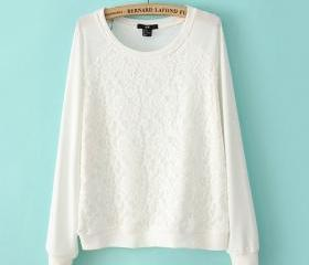 Loose Lace Sweatshir..