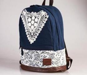 Blue Backpack With ..