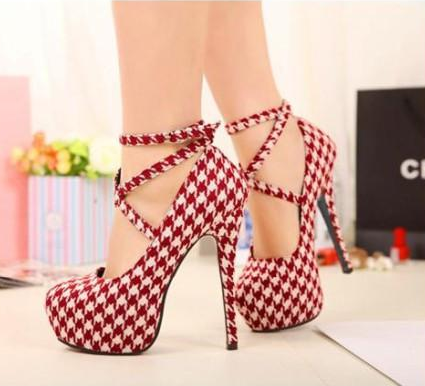 New Strappy Heels Pumps Sexy Wedding Club Party Platform High Stiletto Heels Shoes