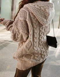 Sexy and fashion Hooded Cardigan Coat Thickening