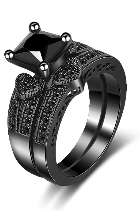 JLD-K100Women's Inlaid Eye Zircon Rings Anniversary Gifts