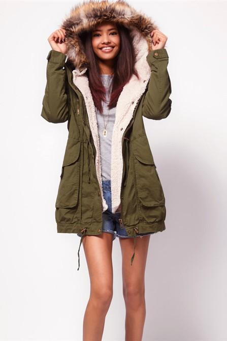 Hooded Cashmere Coat Loose