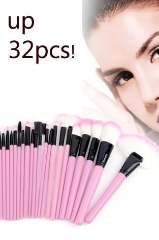 32 Pcs Makeup Brush Set Cosmetic Pencil Lip Liner Make Up Kit Holder Bag Pink VKVZEG9GMIK4HPXQEN4UP FARSF9VA2UX