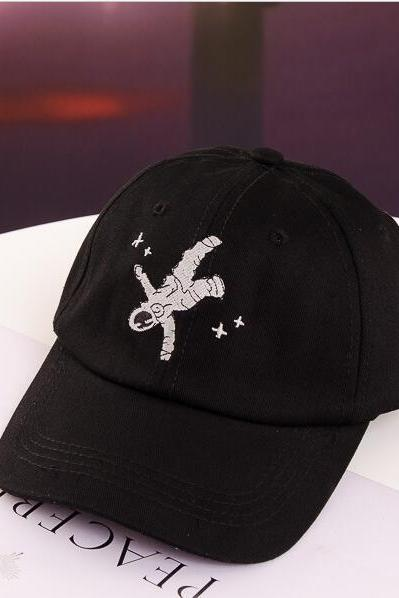 Free shipping spaceman embroidery baseball cap hat #YYL-38