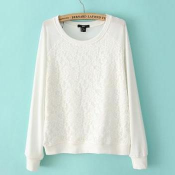 Loose Lace Sweatshirt