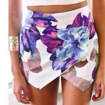 Flower Print Shorts AFCHFH