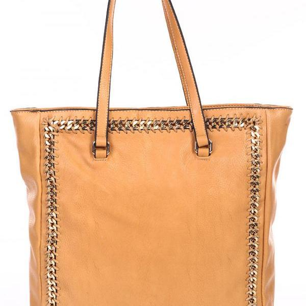 Beige Leather Tote Hobo Handbag Shopper Tote Light Brown Leather Handbag Taupe Purse Leather Purse