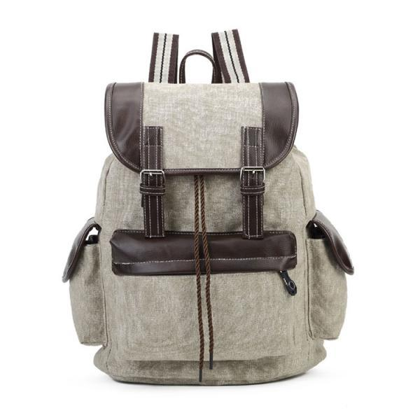 Fashion Belt Decorative Package Cover Canvas Backpack