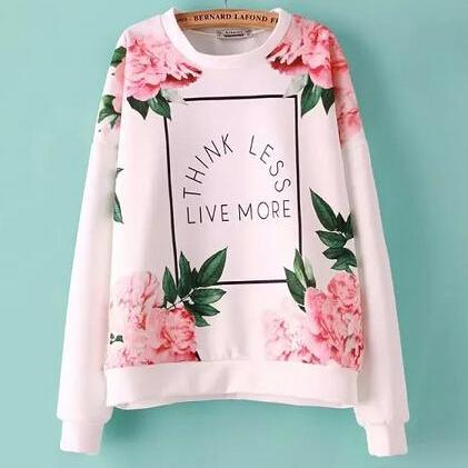Beautiful Essential Floral Pink Sweatshirt