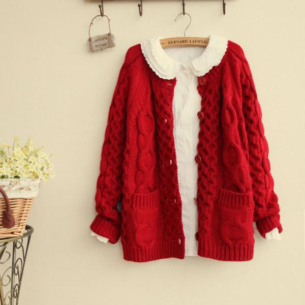 Retro Loose Thickened Cardigan Sweater 7UQUVG6JCNX72O1ZMXSA1 DWMLPL2JQ0D