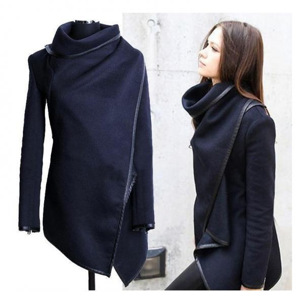 Stylish Winter Coat In Navy Blue